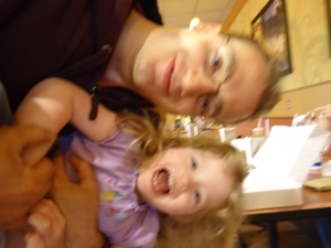 (It's blurry, but even the blurriness captures the moment.)