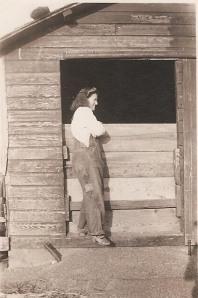 Grandma on Ziegler farm