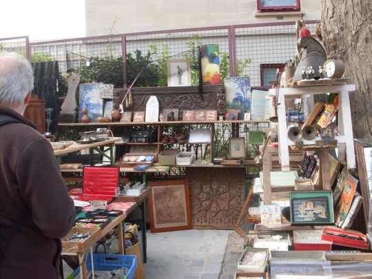 Scouring a Paris flea market with Grace