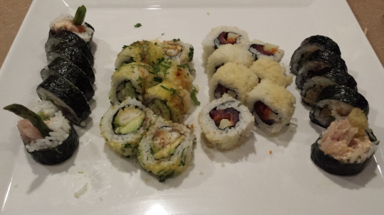 Our very first (but not the last) sushi!